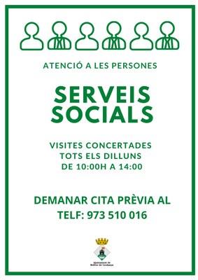 CITA PRÈVIA AMB ELS SERVEIS SOCIALS