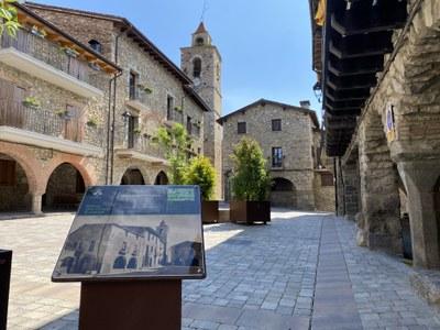 L'Ajuntament de Bellver instal•la plafons amb fotografies antigues per tot el poble