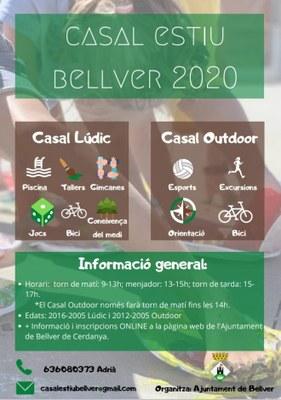 OBERTES LES INSCRIPCIONS AL CASAL D'ESTIU DE BELLVER 2020