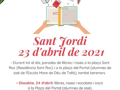 Sant Jordi, 23 d'abril de 2021